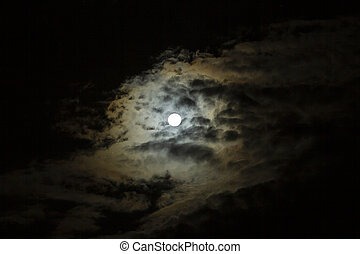 Full moon with copy space