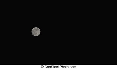 full moon with pure black background