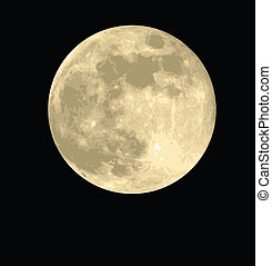 full moon with realistic textures, vector format is...