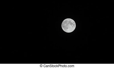 Full moon with relief spots