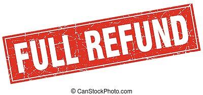 full refund square stamp