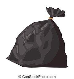 Full refuse plastic cartoon sack - Full refuse plastic sack ...
