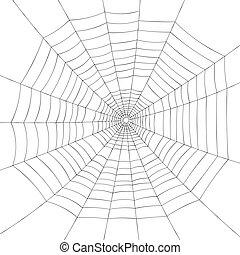 Full screen black spiderweb on white background. - Full ...