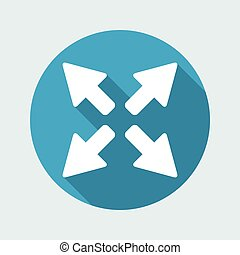 Full screen expand button - Vector flat icon