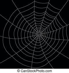 Full screen white spiderweb on black background. - Full ...