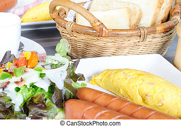 Full set of american breakfast, ABF food