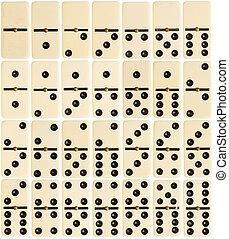 Full set of domino tiles - Big size full set of domino tiles...