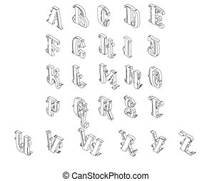 Full set of isometric alphabet