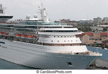 Full Ship at Dock