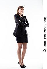 full shot portrait of a business woman