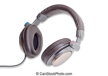 Full size headphones on a light background - Light brown...