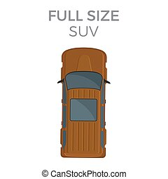 Full Size SUV Means of Transportation Isolated - Full size...