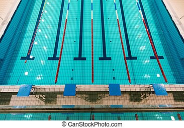Full Size Swimming Pool Aerial View.