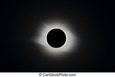 solar eclipse - full solar eclipse, corona
