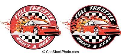 Full Throttle Street Racing Badge.eps - Full Throttle Street...
