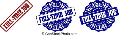 FULL-TIME JOB Scratched Stamp Seals