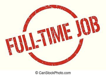 full-time job stamp