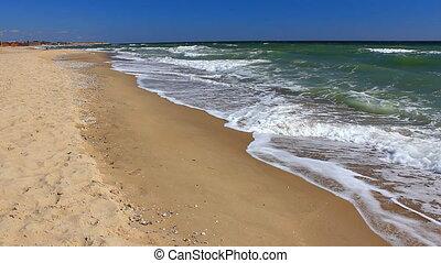 (full, vagues, rivage, hd), océan