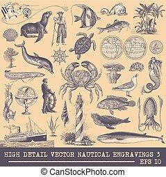 Full Vector Collection of Original Nautical Engravings Set 3