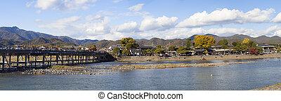 Arashiyama in Autumn ,Kyoto, Japan