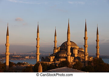Full view of Blue Mosque in Istanbul