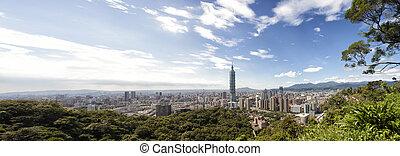 full view of taipei city
