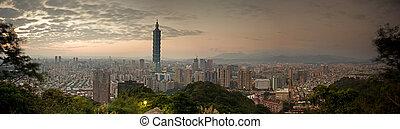 Full view of Taipei city, Taiwan