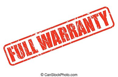 FULL WARRANTY RED STAMP TEXT