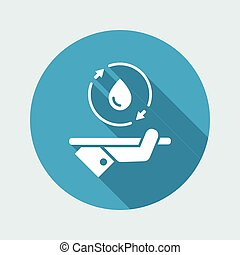 Full water services - Vector web icon