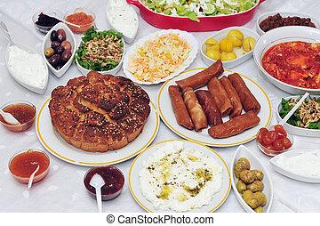 Classic Yeminite Jewish breakfast