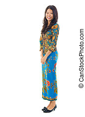 Fullbody southeast Asian female