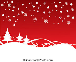 fullständigt, editable, illustration, vektor, bakgrund, jul