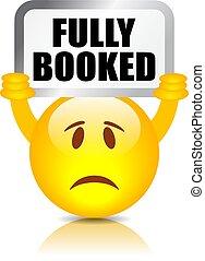Fully booked vector emoji