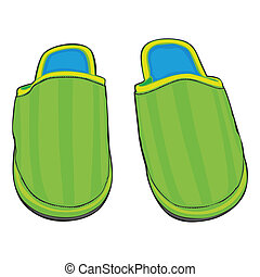 home slippers - fully editable illustration home slippers