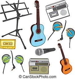 music items - fully editable illustration music items