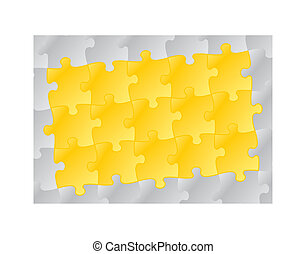 yellow puzzle pattern