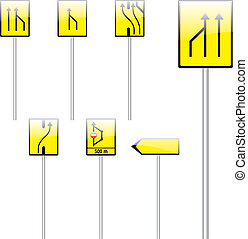 fully editable vector european traffic signs