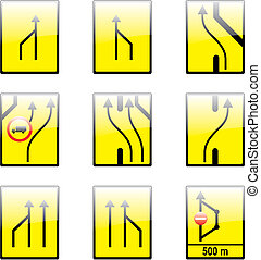 vector european traffic signs with details