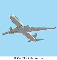 vector illustration airliner