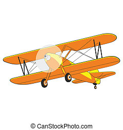 airplane - fully editable vector illustration airplane