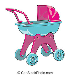 baby-car - fully editable vector illustration baby-car