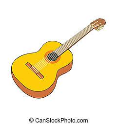 classic guitar - fully editable vector illustration classic...