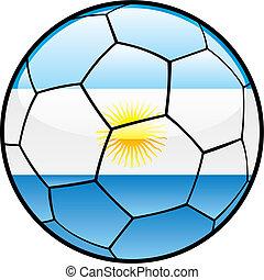 flag of Argentina on soccer ball - fully editable vector...