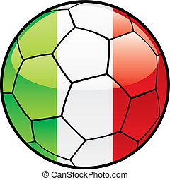 flag of Italy  on soccer ball