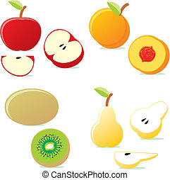 vector illustration isolated icon fruits