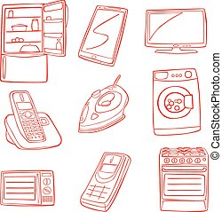 home appliance - fully editable vector illustration of home...