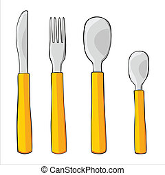 isolated dishware - fully editable vector illustration of...