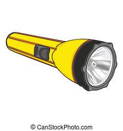 fully editable vector illustration of isolated flashlight