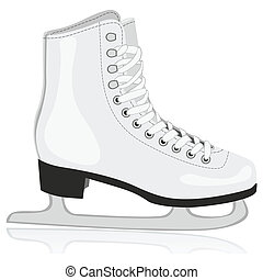isolated ice skates - fully editable vector illustration of...