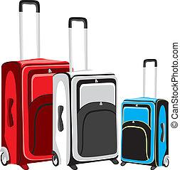 illustration of isolated luggage